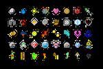 Pokemon Badges by dakinquelia