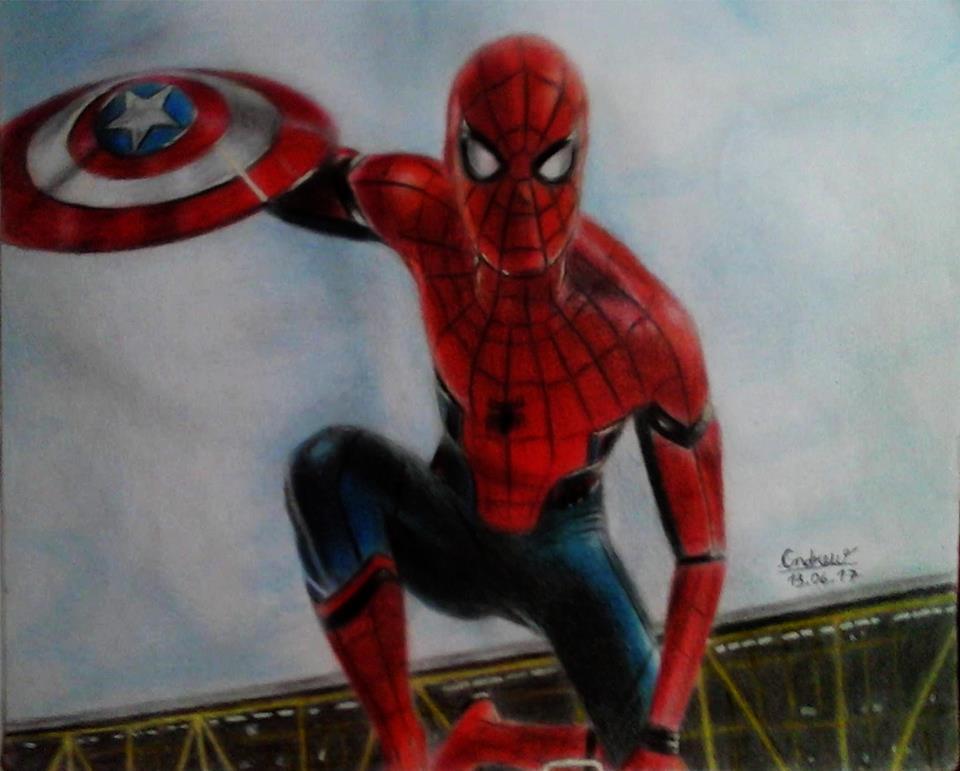 Drawing Spiderman Desenho Homem Aranha Civil War By Olayo276 On