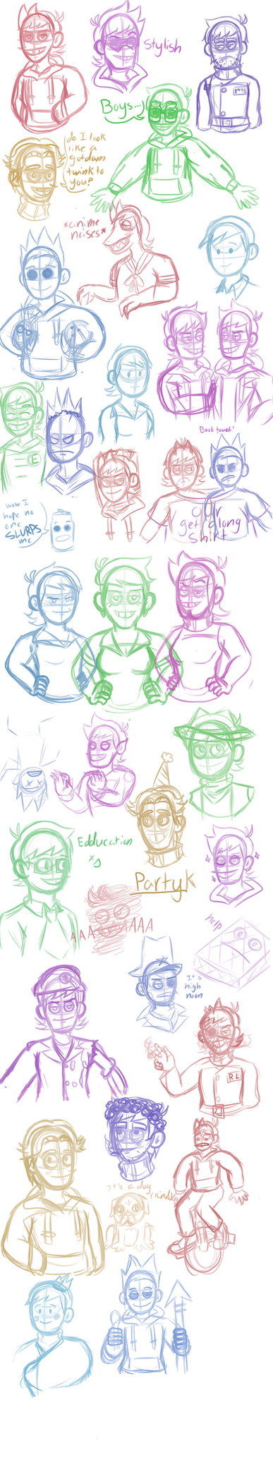 Eddsworld Stream Sketches by AstralTravell