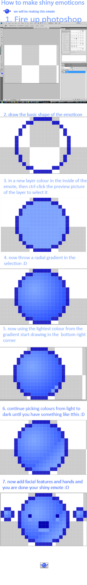 how to make shiny emoticons by NickPlatypus