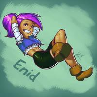 Enid (OK KO fanart) by LordZaix