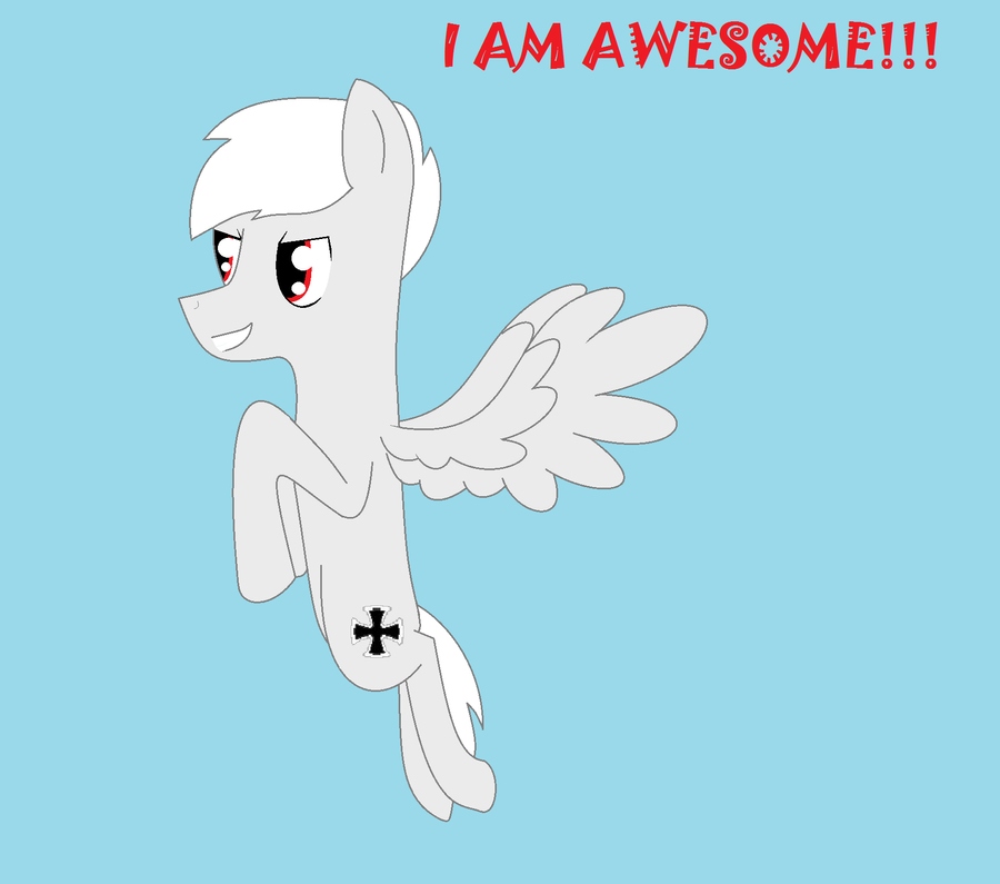 I AM AWESOME by Ask-PonyPrussia