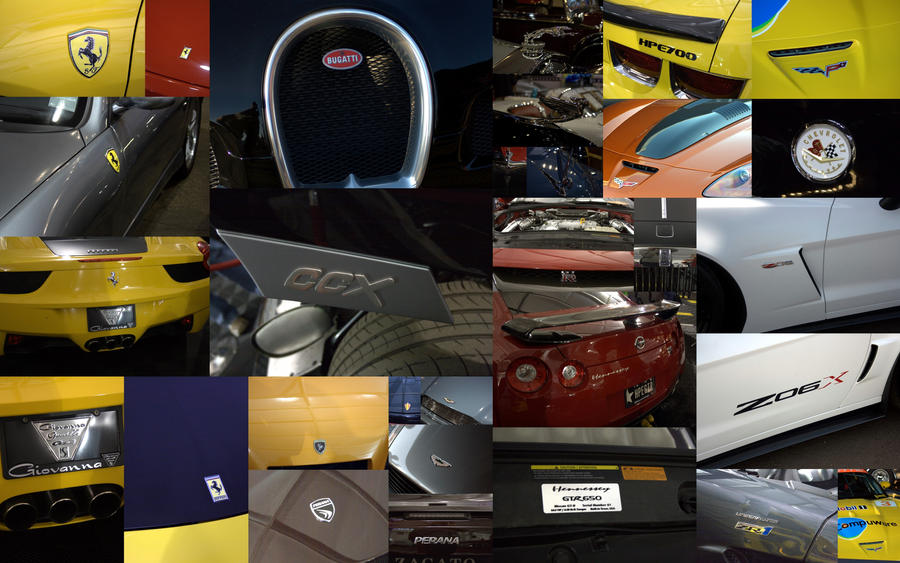 super car logo collage by chutography on deviantart