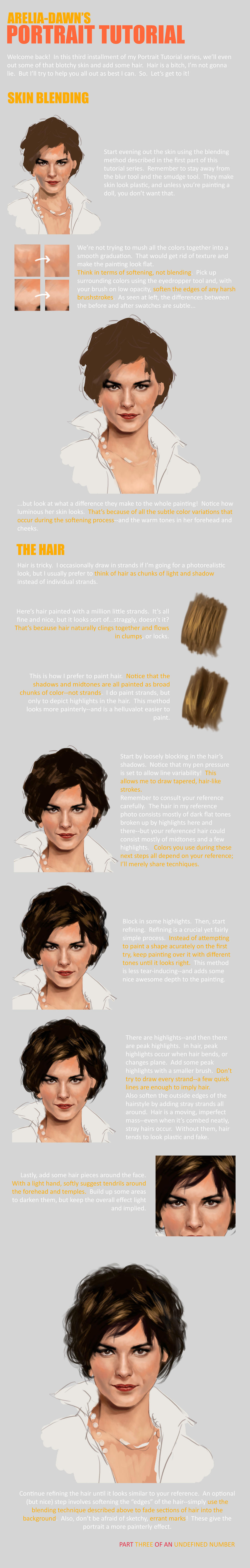 Portrait Tutorial, Part Three by arelia-dawn