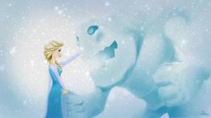 Elsa and Marshmallow