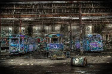 Harold Park Trams3 by RichardjJones