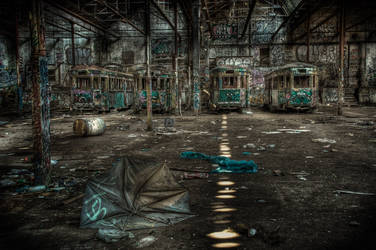 Harold Park Trams4 by RichardjJones