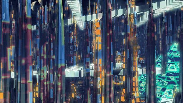 Alien City Landscape Art