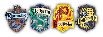 Hogwarts House Crests by silver-gaze