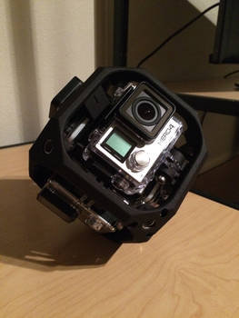 GoPro array for 360 degree video