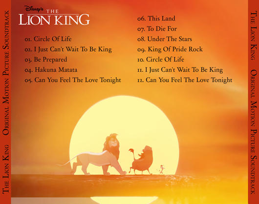 The Lion King Back Cd Cover By Peachpocket285 On Deviantart