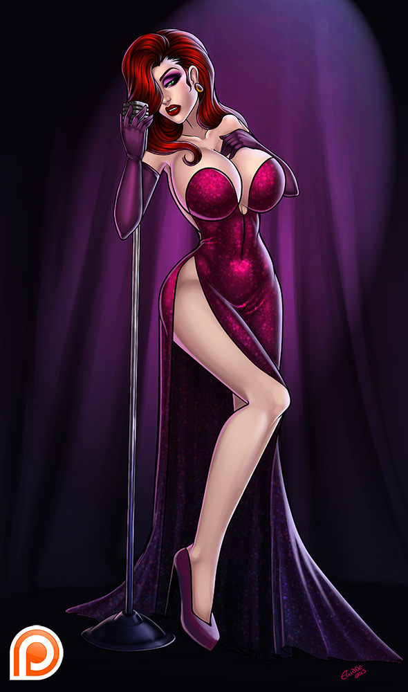 Patreon May exclusive pic * Jessica rabbit * by elwinne