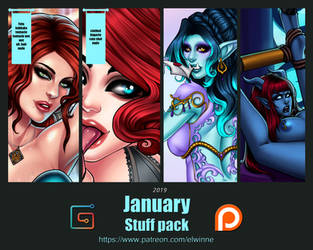Patreon Stuff pack January 2019 - Gumroad by elwinne