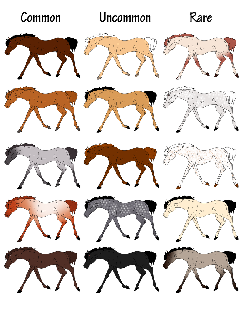 Pandori Aura Equine Color Chart By Carlmoon On Deviantart