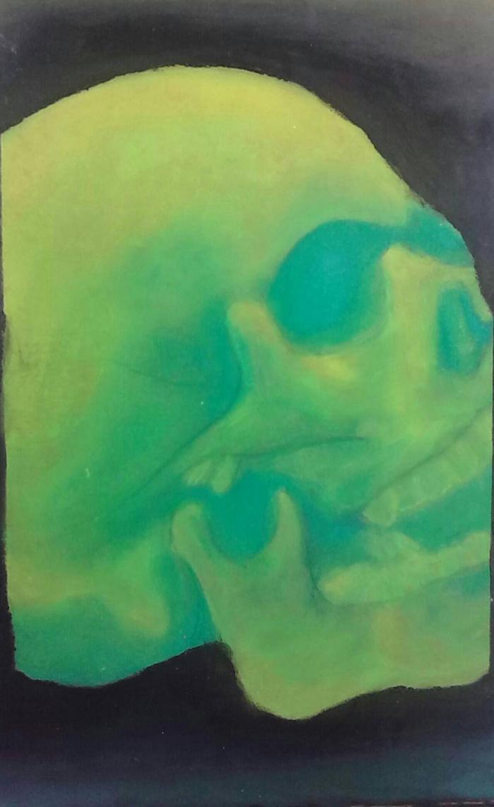 radioactive skull by applethecat13 on deviantart