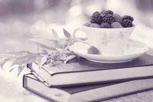 Fruity Tea  b and w by Tracys-Place