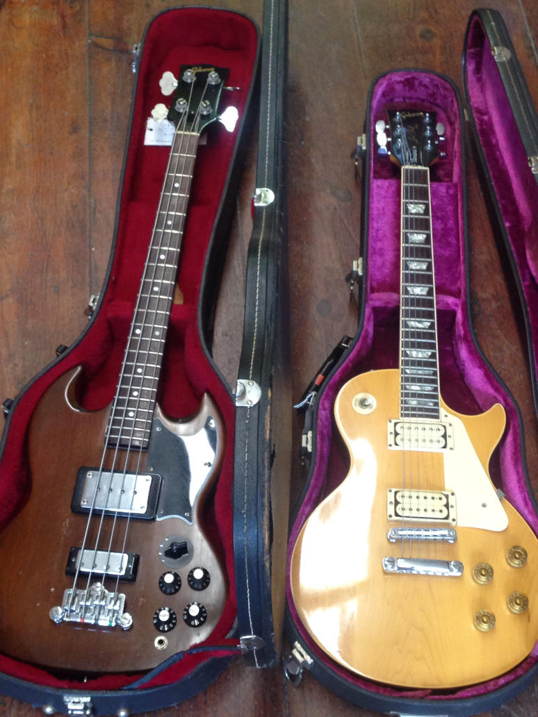 My vintage gibsons by Hypnotix666