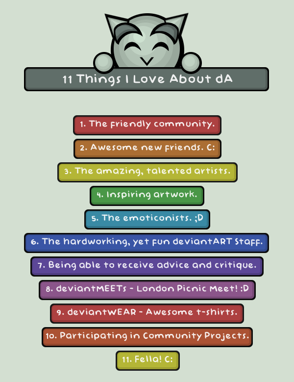 11 Things I Love About dA by conniekidd