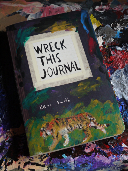 Wreck This Journal Book Cover Ideas : Wreck this journal front cover by conniekidd on deviantart