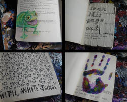 Wreck This Journal - 4 Pages by conniekidd