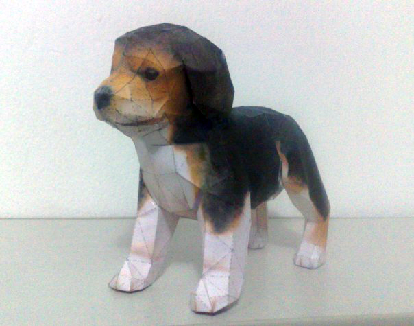 Nintendogs - Beagle Papercraft by LightningChrono