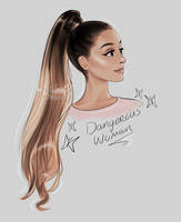 Ariana Grande - Dangerous Woman drawing by miloutjexdrawing