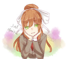 Monika sketch from ddlc by mmk505
