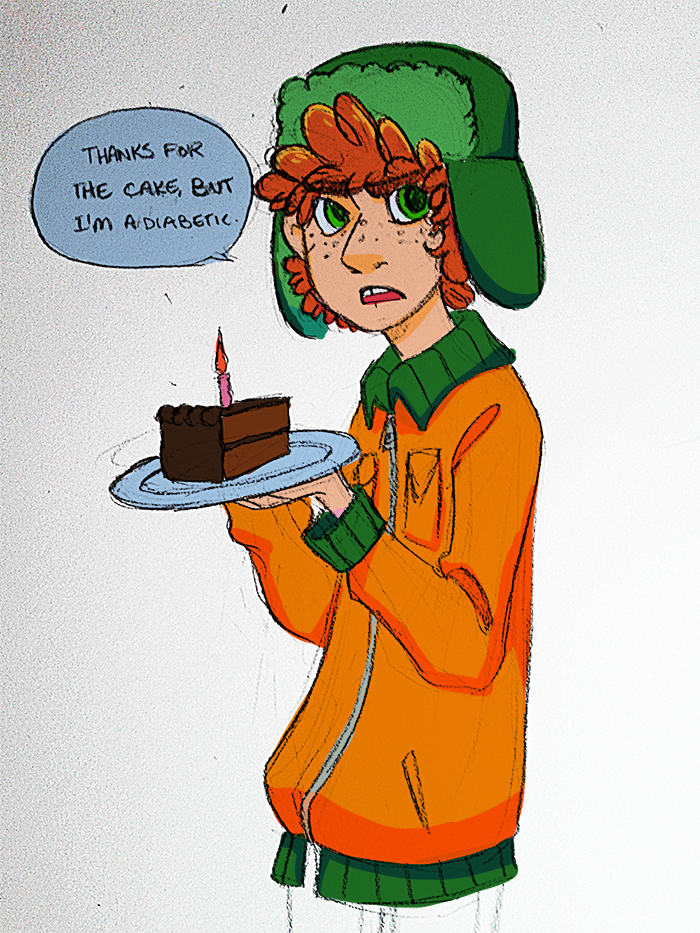 happy birthday kyle by Kayotics