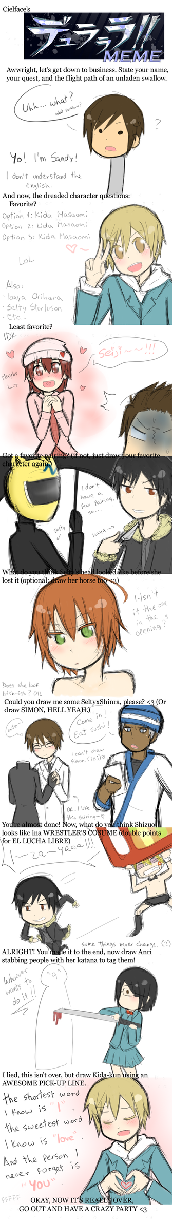 :DRRR: Meme -slight spoilers- by s-a-n-d-y