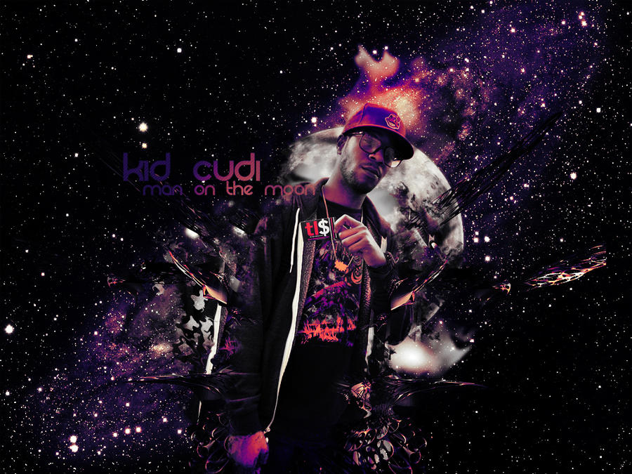 KiD CuDi Man on the Moon by sYnGFX on DeviantArt