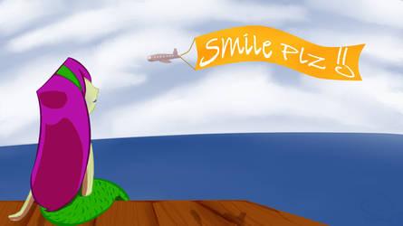 Smile pls Wallpaper