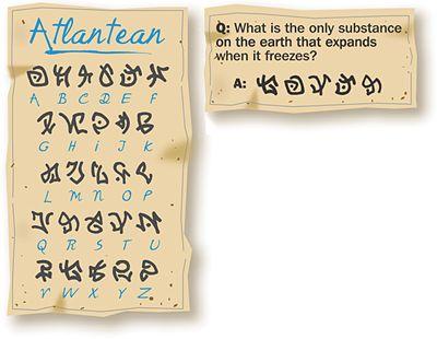atlantian alphabet by SmireSmire