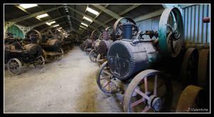 Steam Engine Graveyard at Preston Steam Rally 2012