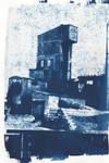Cyanotype of an Industrial Building