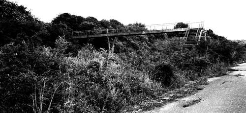 Stairs to former hover port, Pegwell Bay, Thanet by thevdm