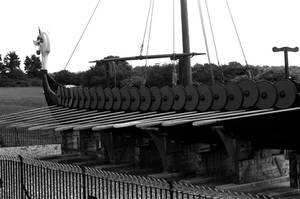 Viking Ship at Pegwell Bay, Thanet, Kent