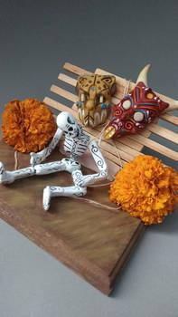 Marioneta de dia de muertos