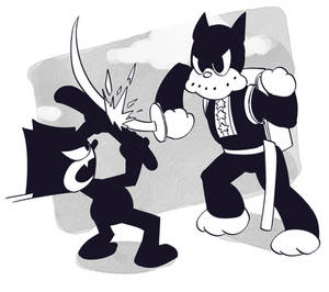 Felix the Cat vs Norakuro
