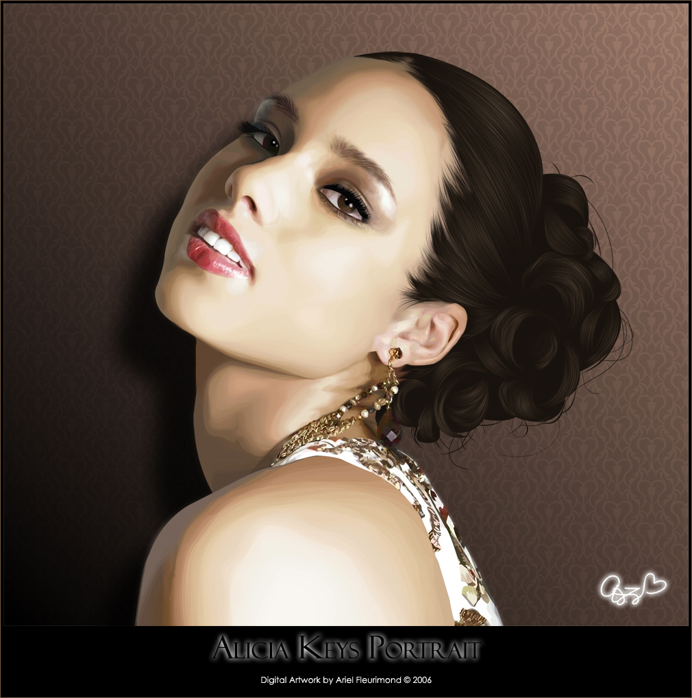 Alicia Keys - Vexel Art