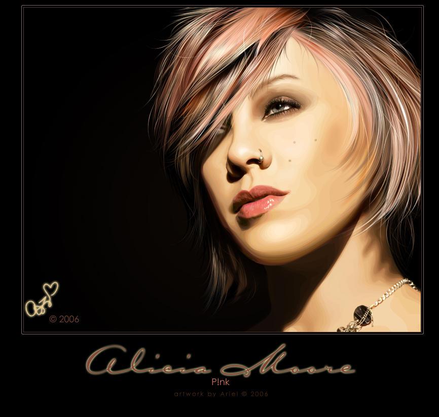 Alicia Moore - Pink Collab by Joaris333