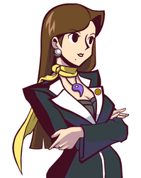 Mia Fey in Ghost Trick Style by Rockerfox999
