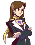 Mia Fey in Ghost Trick Style