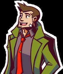 Detective Gumshoe in Ghost Trick Stlye by Rockerfox999