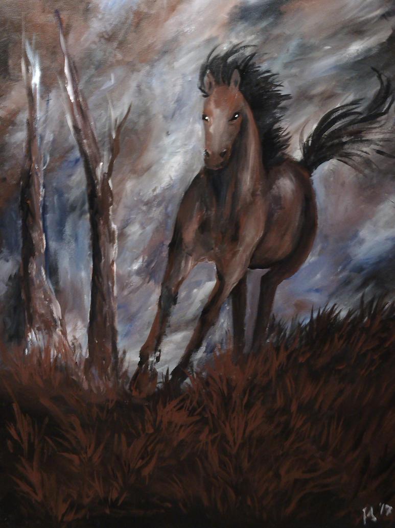 Running horse by Kizzy-i-Keinstein