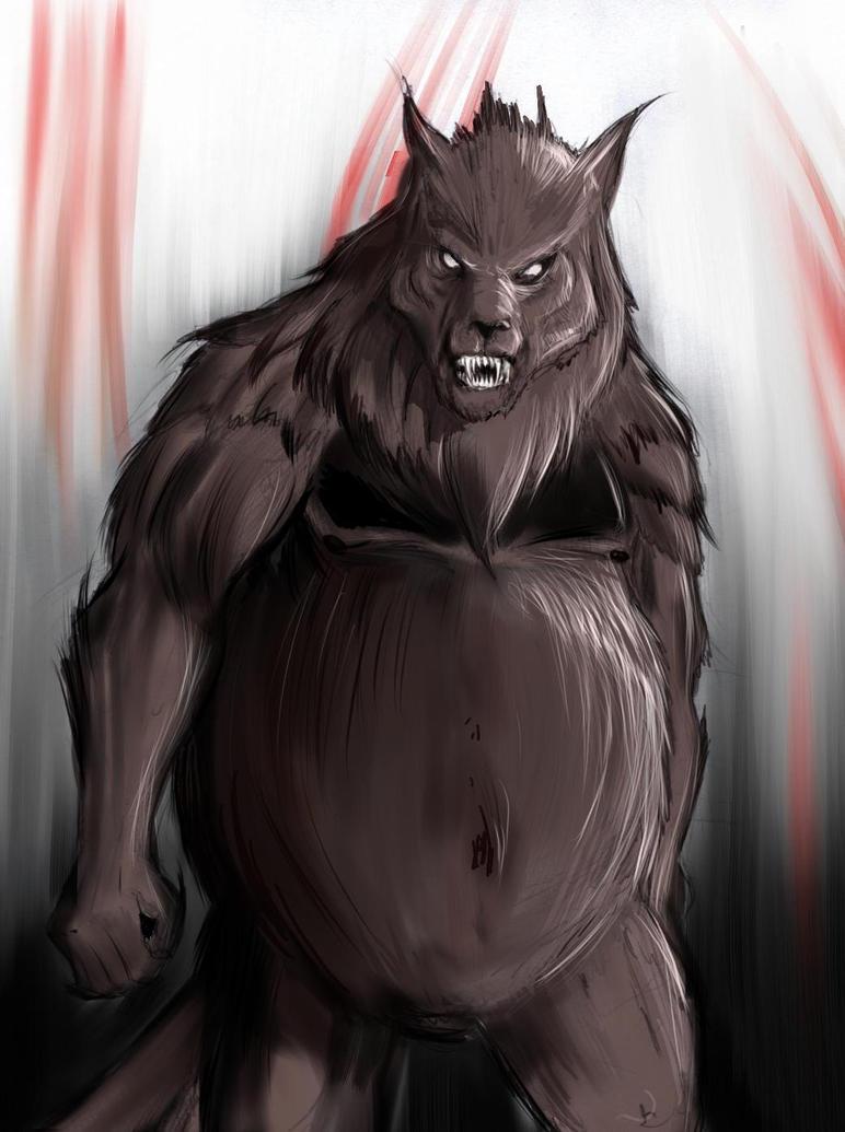 Quite fat werewolf by Mordred-87