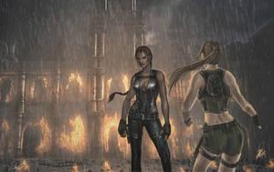 Lara vs the Doppelganger by NightWish666