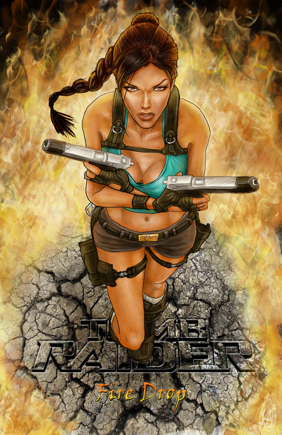 tomb raider fire drop cover by nightwish666 on deviantart. Black Bedroom Furniture Sets. Home Design Ideas
