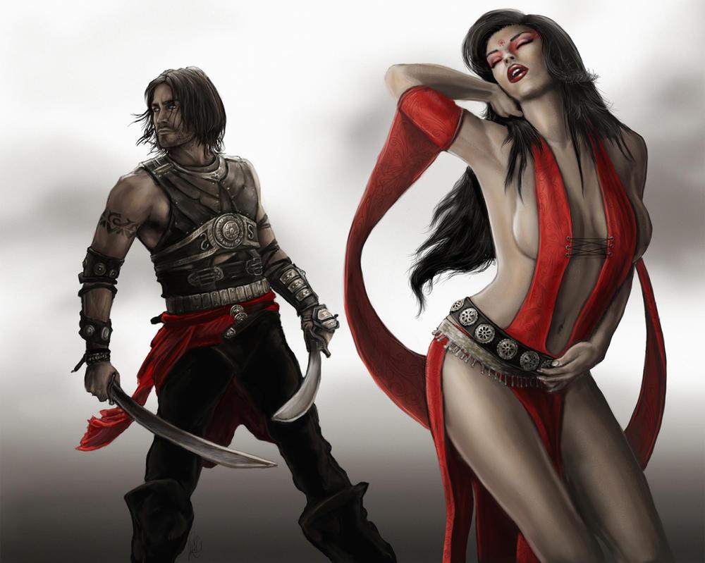 Dastan and Kaileena by NightWish666