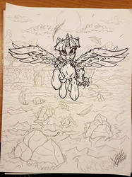 WIP: Soring Twilight by ArtPonyMDP