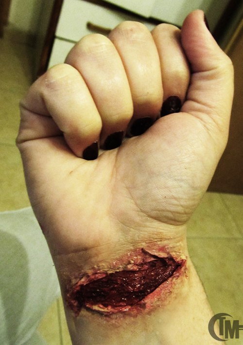 Wrist cut Make-Up by TalMunis on DeviantArt